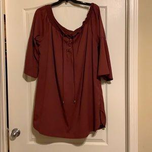 Charlotte Russe Plus Size Burgundy Mini Dress